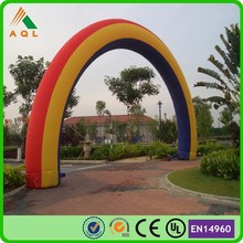 promotional event decoration inflatable rainbow arch