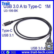 1M USB 3.1 Type C Male to USB 3.0 Type A Male Data Cable for Macbook 12 inch/ Nokia N1Tab/ Letv Le 1/1Pro/Max U3-199-WH
