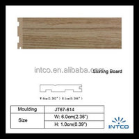INTCO waterprrof wood plastic composite skirting board for home Decoration