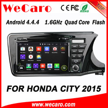 WECARO High End 1080P Pure Android 4.4.4 Double Din Car Dvd For Honda City New