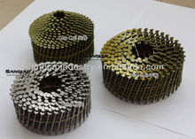 WIRE COIL NAILS, BRIGHT OR YELLOW COATING, SCREW/RING/SMOOTH SHANK