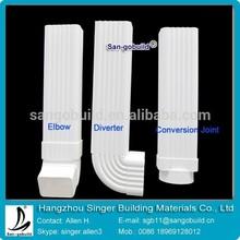 Alibaba Manufacturer other plastic building material PVC rain gutter, PVC drainage downspout