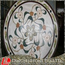 Schöne marbel wasserstrahl marmormedaillon design, mosaiktisch muster tischdekoration( direkt Hersteller)