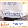 hot sale white leather high quality double bed design G894#