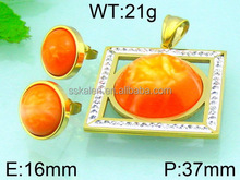 Wholesale import jewelry from china gold filled large size jewelry