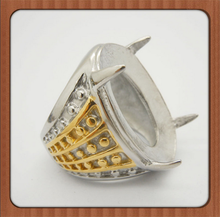 Indonesia gem ring,stainless ring for indonesia,blank stainless steel ring setting