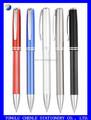 Medio metal pluma, negro bolígrafo de metal, negro plumas de tinta metal