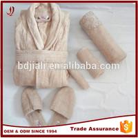 Factory Wholesale 100% cotton bathrobe set / bath robe set