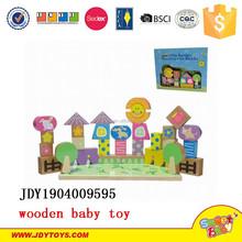 2015 new children wooden toys little garden construction block educational wooden toys