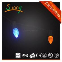 2013 shenzhen SMD5050 Amber LED christmas light bulbs c7