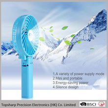 CE and FCC pocket handheld mini usb battery chargeable electrical fan for outdoor activities