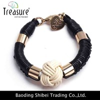 Wholesale colorful band loom twist knot rubber band heart bracelet