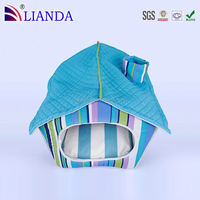 Folds flat for travel indoor rabbit cages,foldable pet house,dog house wholesale