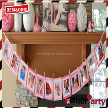 Hot Selling Promotional Baby Shower Photos Personalized Birthday Banners
