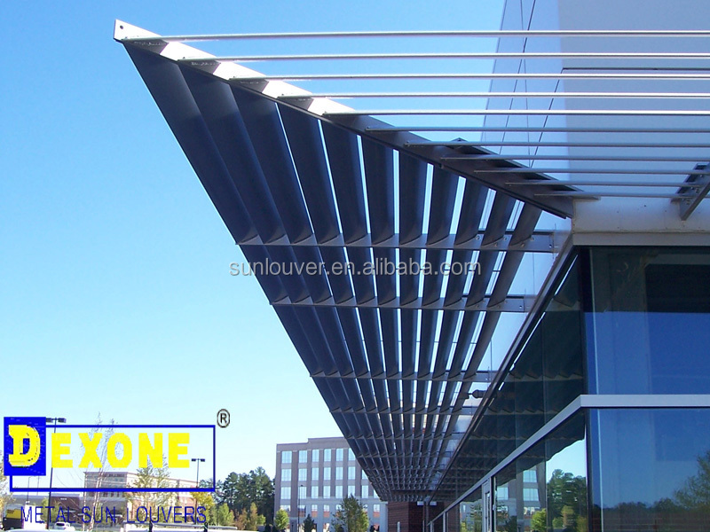 Exterior Decorative Aluminum Louver Blades Aerofoil