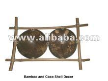 Bamboo and Cocoshell Decor