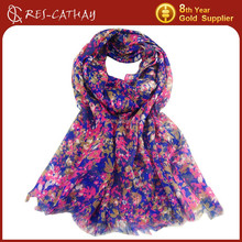 2015 Free Sample low moq floral printed scarf wholesaler 8 YR Gold Supplier