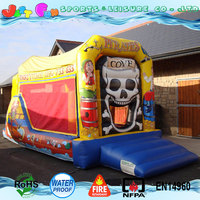 EN14960 pirate boat inflatable jumping bouncer slide combo