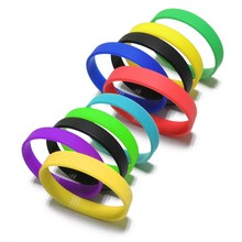 custom dual layer non-transferable silicone debossed wristband for fairs&festivals