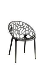 Moderna vendedora caliente de moda decorativo barato oficina cristal Vegetal silla de plástico