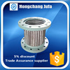 AISI304 316 Ringwave stainless steel bellows flange joint braided flexible hose