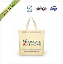 cheap reusable 100% cotton tote shopping bag