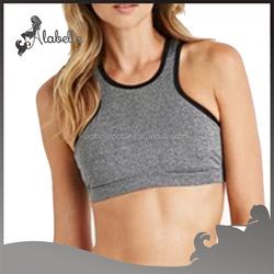 Racer front sports bra women high impact bras