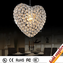 romantic heart shape crystal chandelier