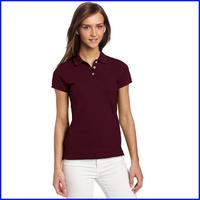 2014 uniform custom plain cotton designer cheap polo shirts suit for ladies polo shirts