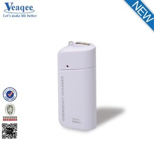 Veaqee powerbank portable mobile power bank 2600 mah for iphone 6