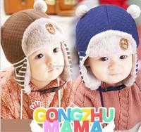 Winter New Hot Sell Beanie Kids Cap Earmuffs Knitted Baby cap