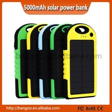 2015 New Products 5000 mAh solar power bank, Solar Charger power bank for smartphone