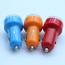 Colorful Cheap 2 port Dual USB Car Charger 5V2.1A for iphone