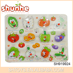 Colorful fruit and letters wooden puzzle numbers wooden jigsaw puzzle