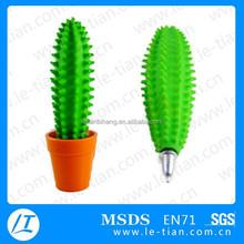 LT-Y872 2015 Promotional Cute Desk Cactus Pen with pot, flower pen