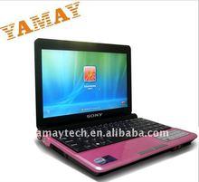 Las ventas calientes 10.2'' ordenadores portátiles para la venta en dubai 1,8 g de memoria OEM netbook mini ordenador portátil