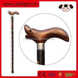 cheap hand made elderly wooden walking stick cane