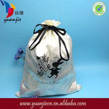 Newest Popular luxury large satin drawstring bags with custom logo
