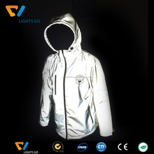 China EN471 Safety glow in the dark reflector fabric