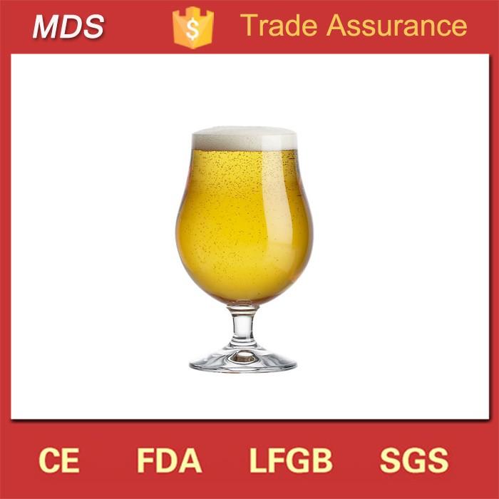 Fabricants de verre tulipe tige ale bière gobelet en verre