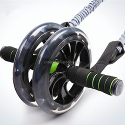 Dual / Double Wheel Ab Roller for Home or Gym Core Abdominal Exercise