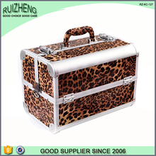 Carry suitcase aluminum make up cosmetic case