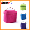 Single color hot and cold cooler bag with lunch box
