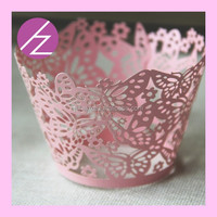 Artifical craft baby shower decoration cupcake wrapper with butterfly DG-3