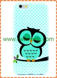 Hot Sales Owl Glossy IMD Soft Tpu Back Cover Case For iphone 6