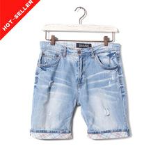 ( #tg532m) 2014 lavado con ácido por mayor todos de marca pantalones vaqueros cortos para hombres