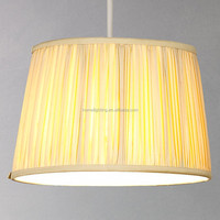 """PC-358 Linen Cream or White Silk Wire for Hanging lamp shades Sizes 10-16"""" W"""