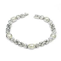 2015 New Arrival Handmade Elastic Pearl Bracelet of bead bracelet with photo jewelry bracelet