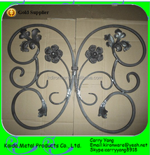Ornamental Forged Wrought Iron Rosettes and Panels