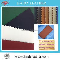 synthetic leather for pu lining leather label in jeans manufacturer polyurethane pu leather with non woven back